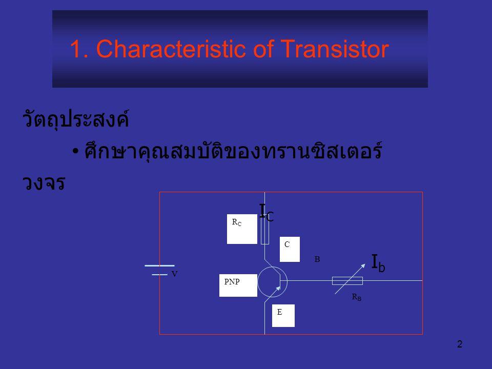 1. Characteristic of Transistor
