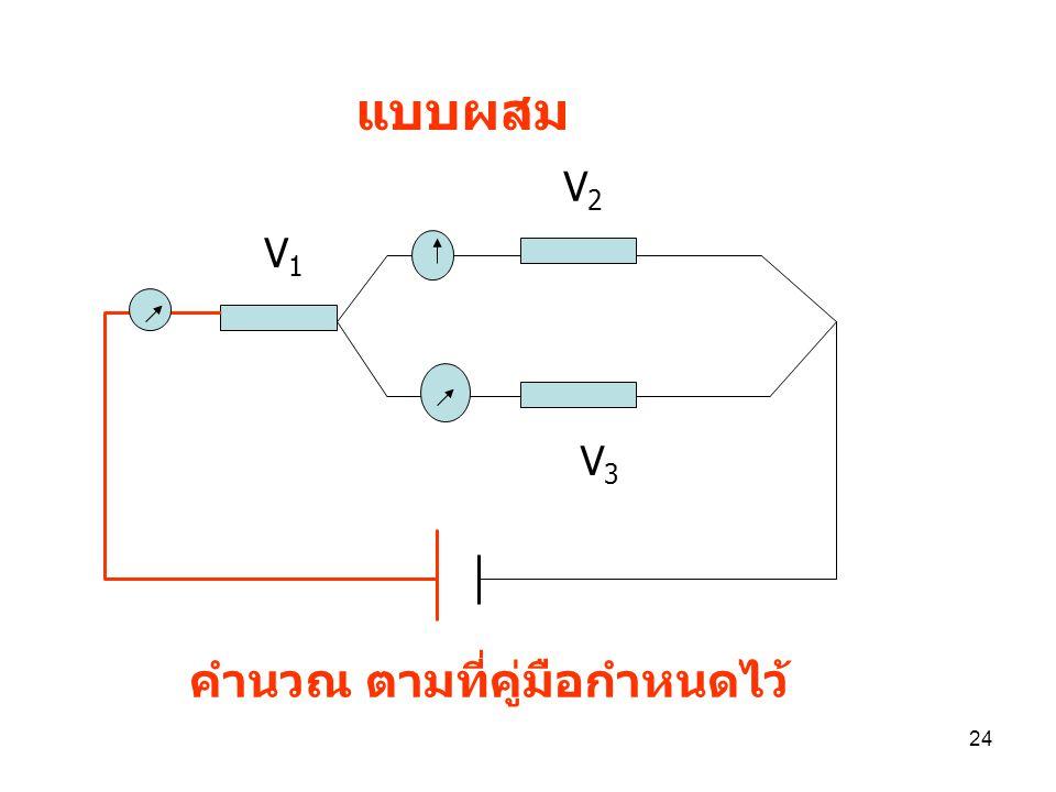 แบบผสม V2 V1 V3 คำนวณ ตามที่คู่มือกำหนดไว้