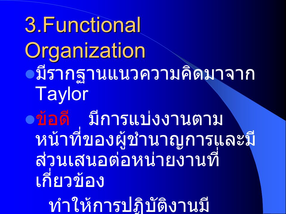 3.Functional Organization