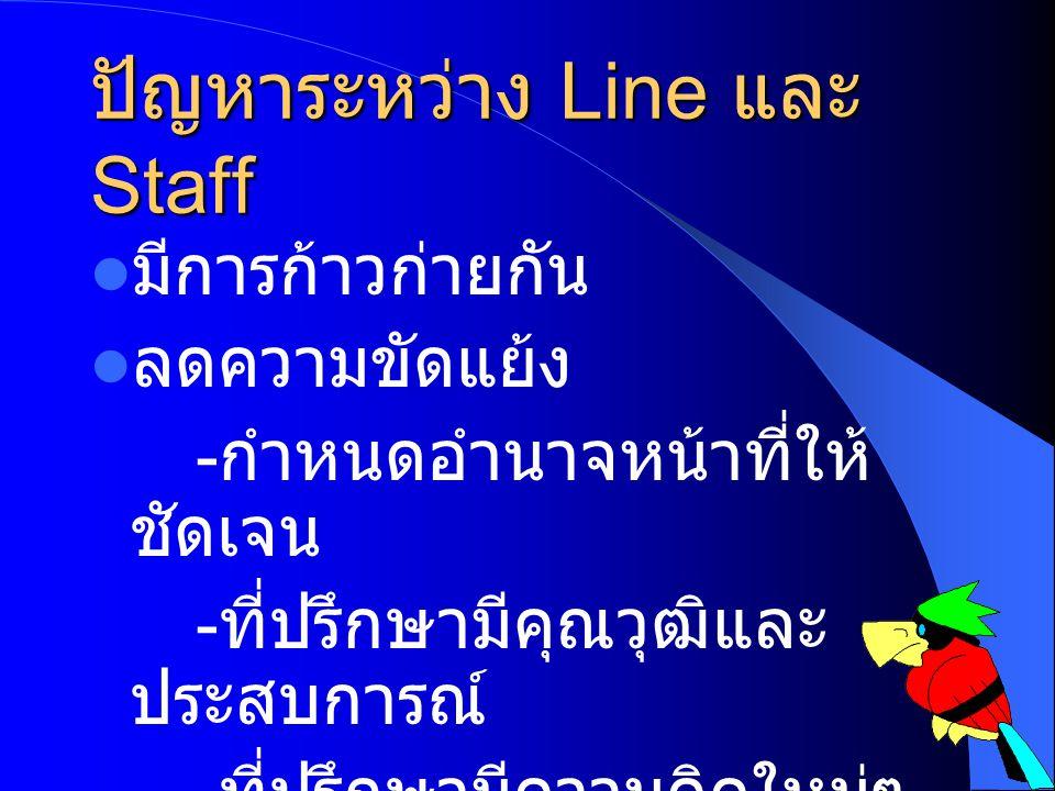 ปัญหาระหว่าง Line และStaff