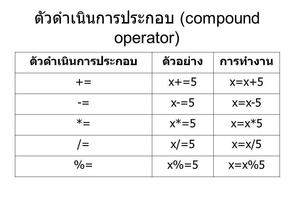 ตัวดำเนินการประกอบ (compound operator)