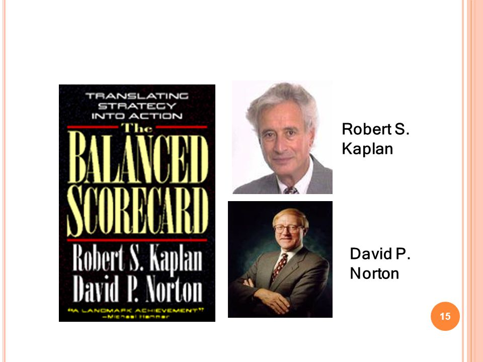 Robert S. Kaplan David P. Norton