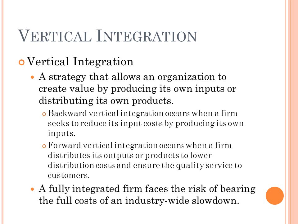 Vertical Integration Vertical Integration