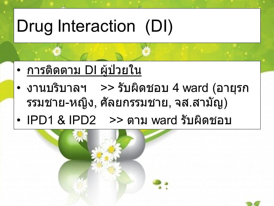 Drug Interaction (DI) การติดตาม DI ผู้ป่วยใน