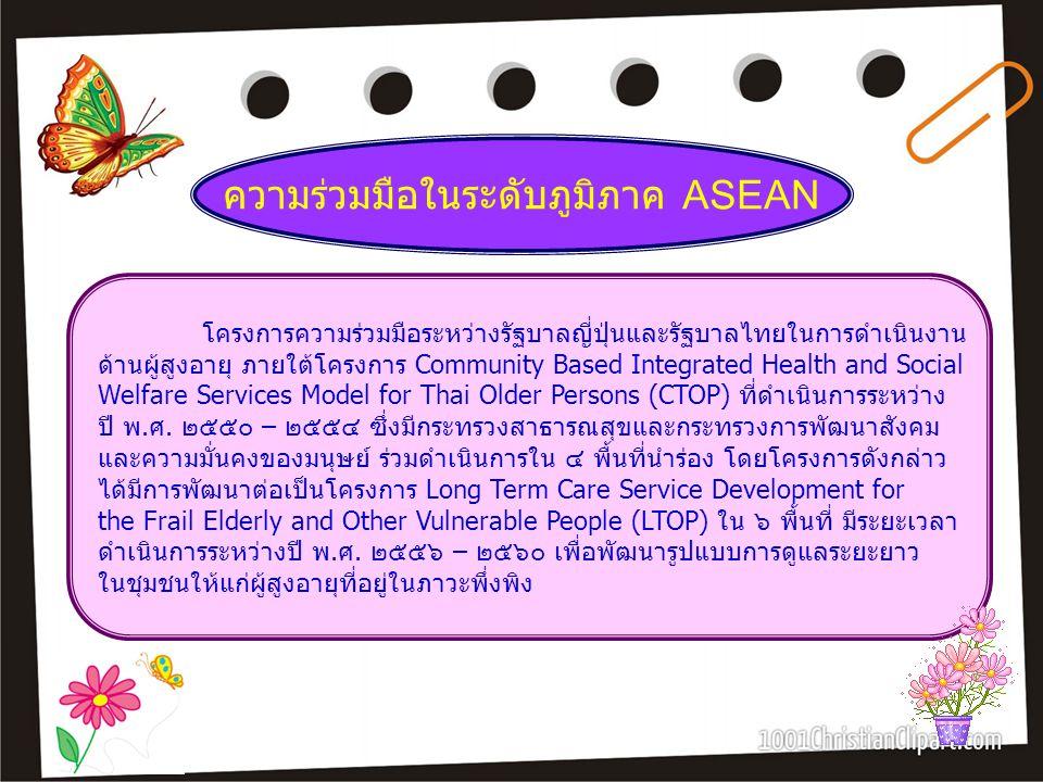 ความร่วมมือในระดับภูมิภาค ASEAN