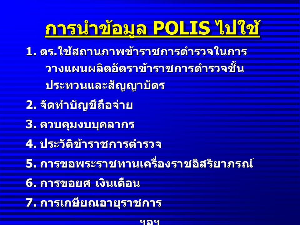 การนำข้อมูล POLIS ไปใช้