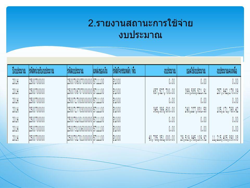 2.รายงานสถานะการใช้จ่ายงบประมาณ