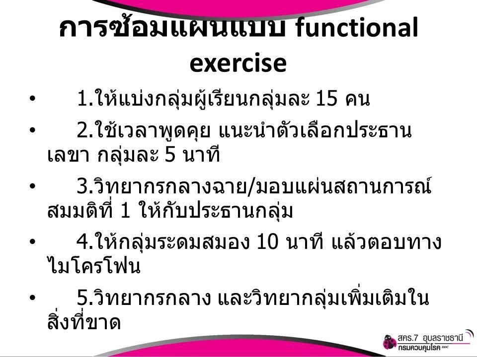 การซ้อมแผนแบบ functional exercise