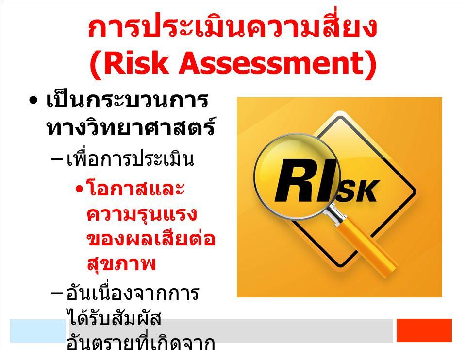 การประเมินความสี่ยง (Risk Assessment)