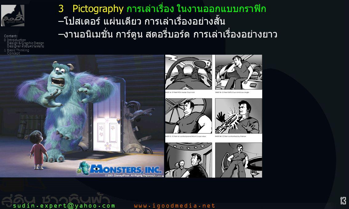 3 Pictography การเล่าเรื่อง ในงานออกแบบกราฟิก