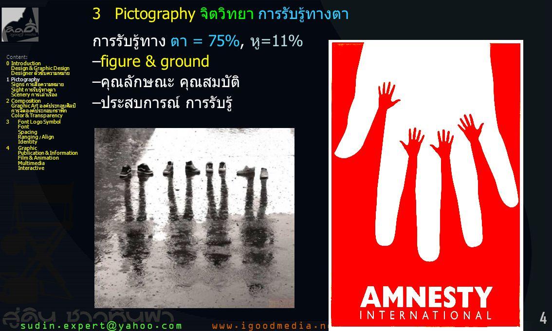 3 Pictography จิตวิทยา การรับรู้ทางตา