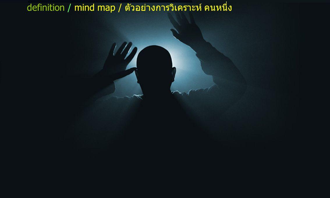 definition / mind map / ตัวอย่างการวิเคราะห์ คนหนึ่ง