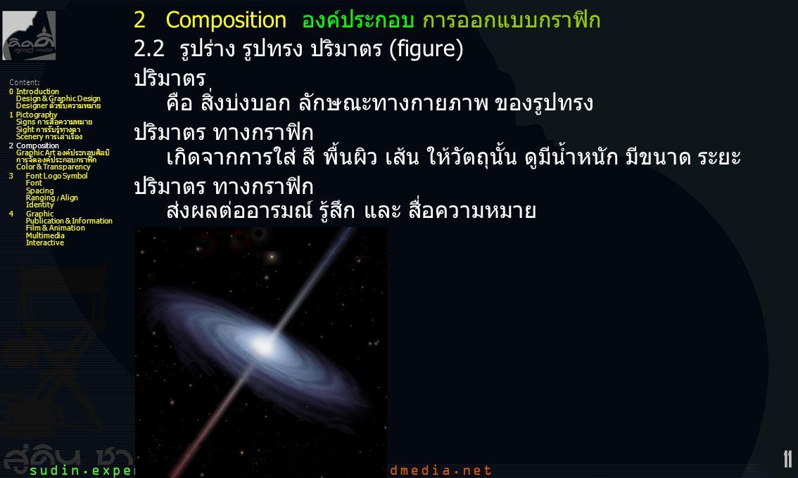 2 Composition องค์ประกอบ การออกแบบกราฟิก