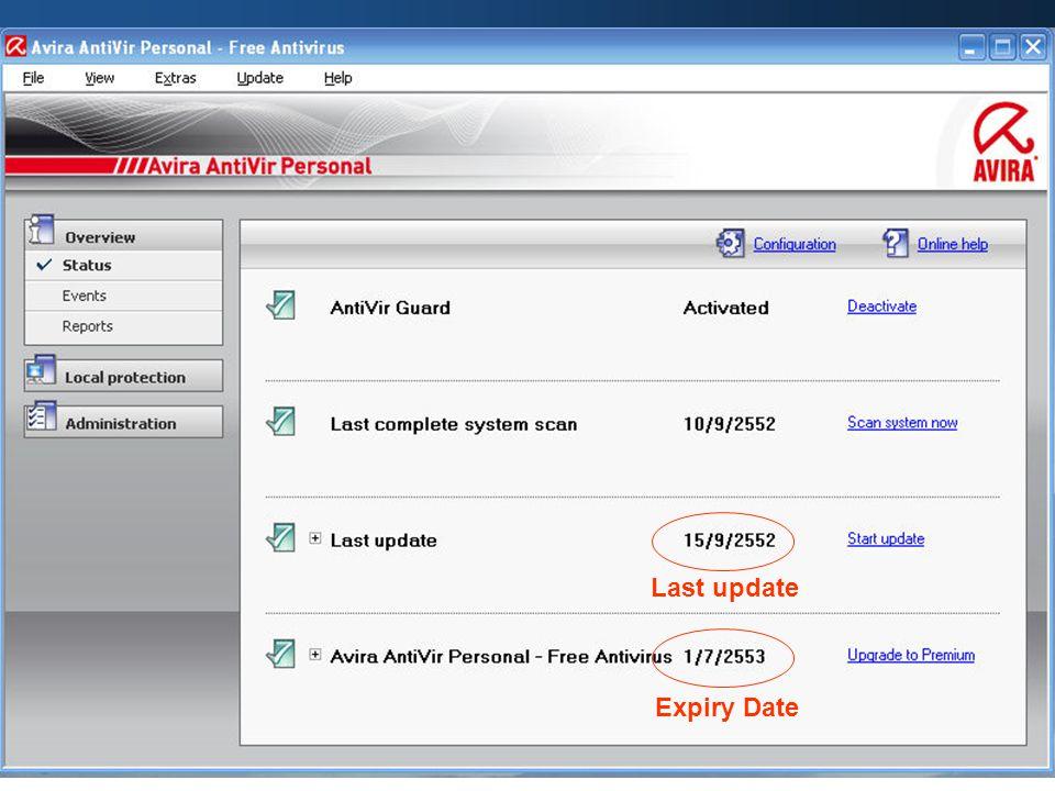 Last update Expiry Date