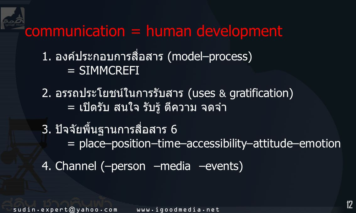 communication = human development
