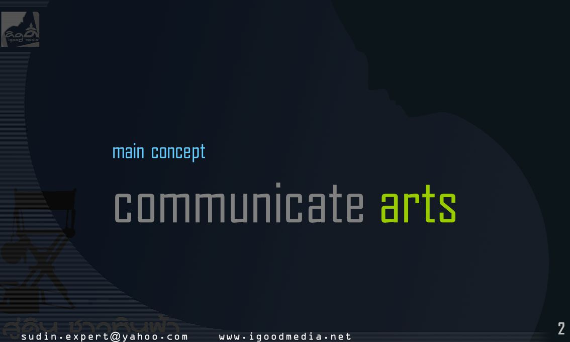 main concept communicate arts