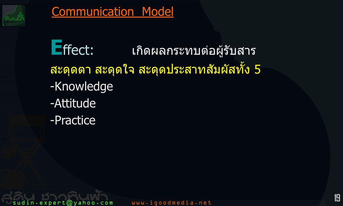 Effect: เกิดผลกระทบต่อผู้รับสาร