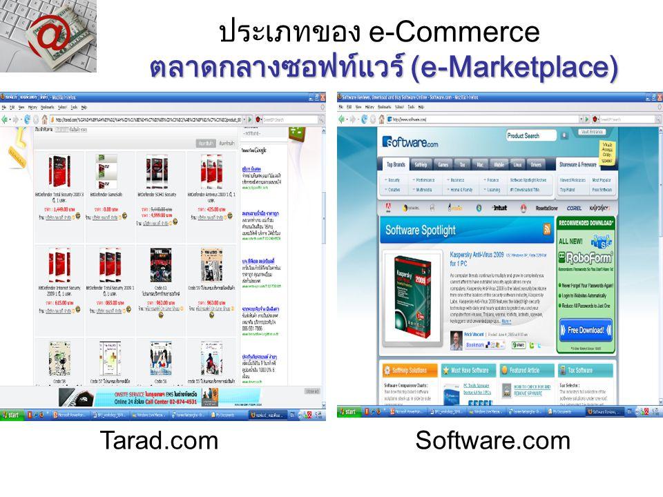 ประเภทของ e-Commerce ตลาดกลางซอฟท์แวร์ (e-Marketplace)
