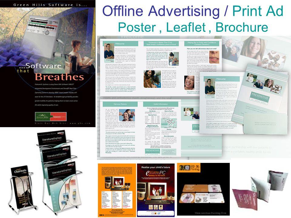 Offline Advertising / Print Ad Poster , Leaflet , Brochure
