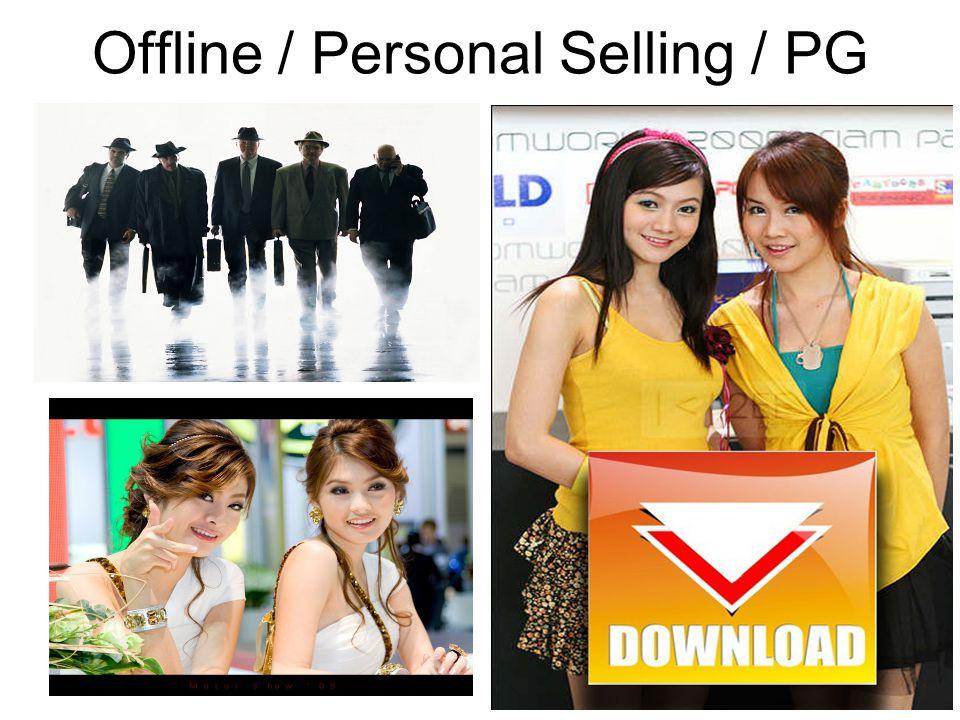 Offline / Personal Selling / PG