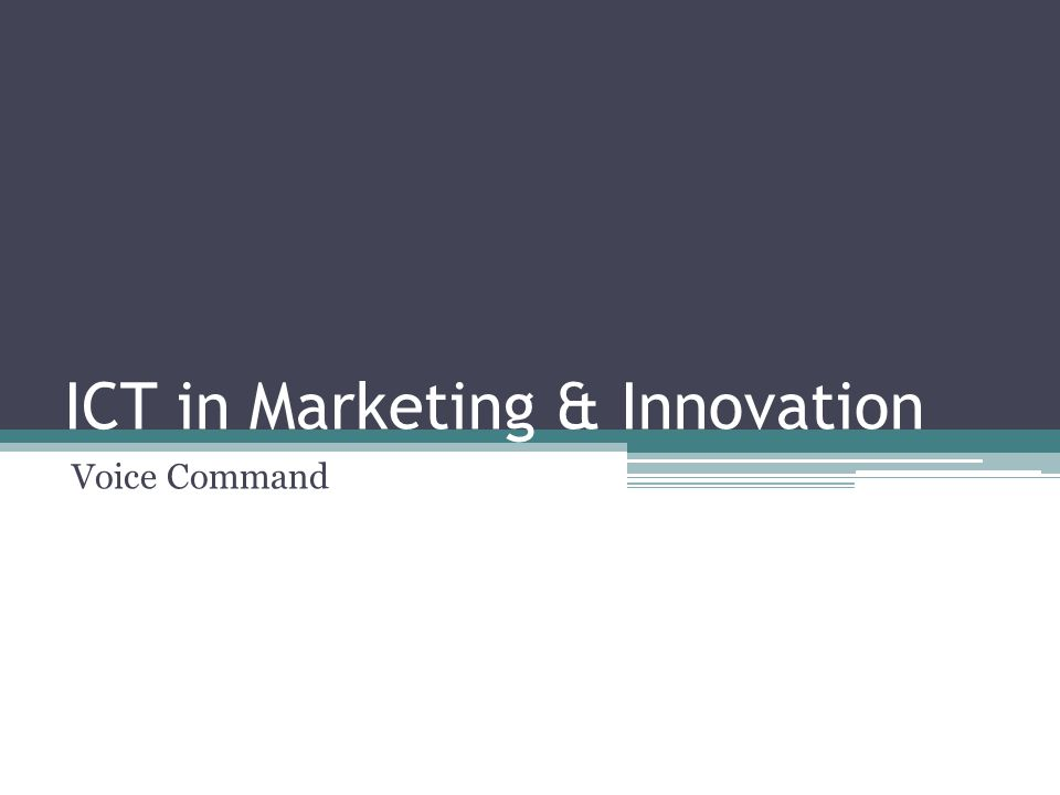 ICT in Marketing & Innovation