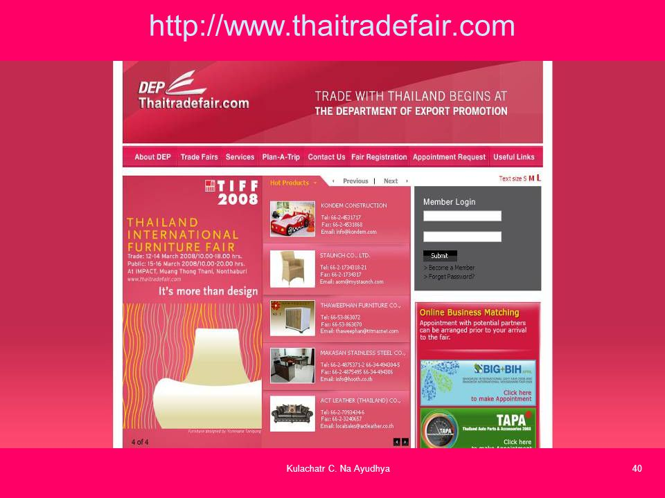 http://www.thaitradefair.com Kulachatr C. Na Ayudhya