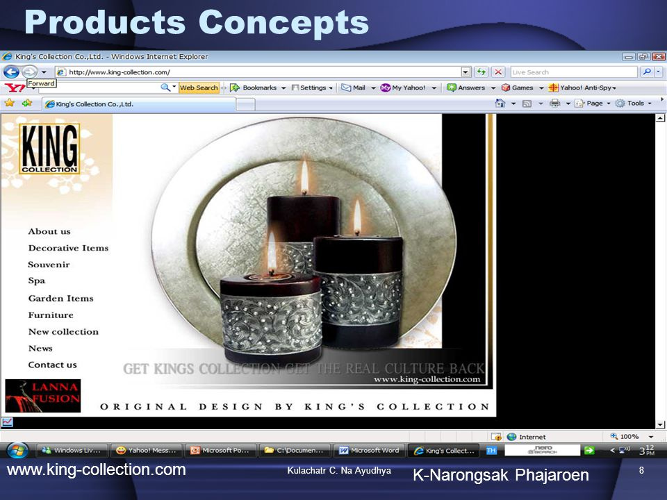 Products Concepts www.king-collection.com K-Narongsak Phajaroen