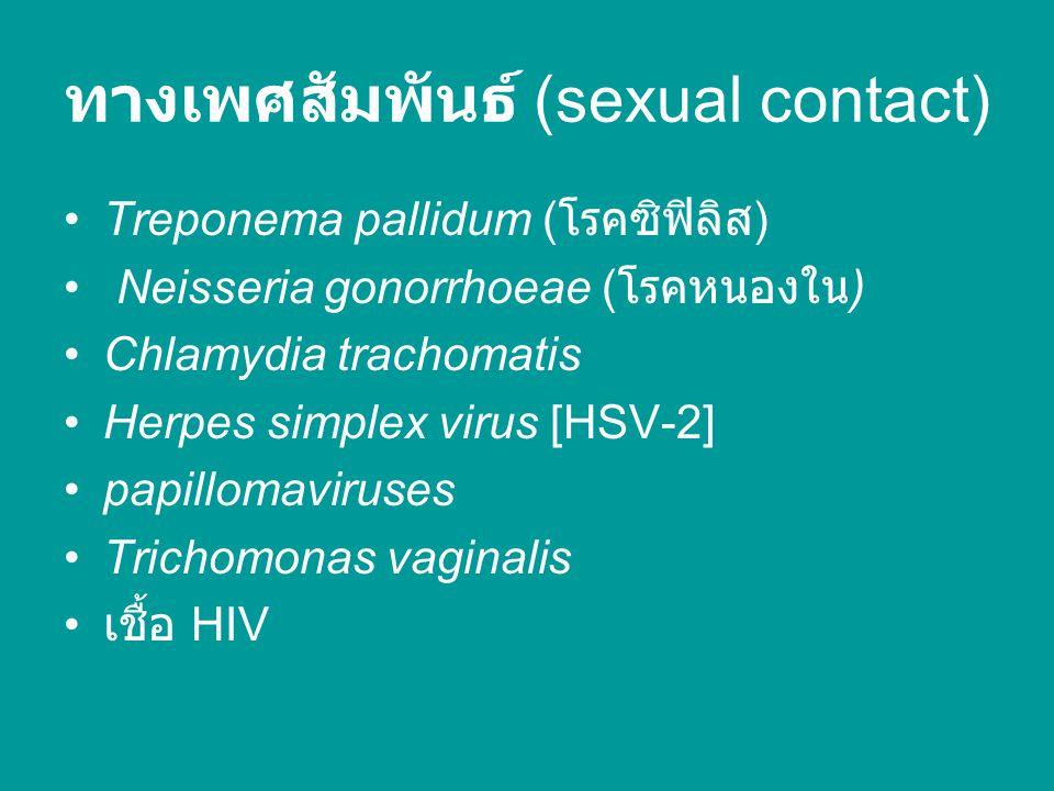 ทางเพศสัมพันธ์ (sexual contact)