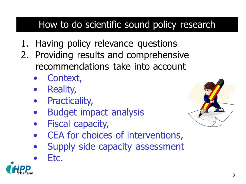 How to do scientific sound policy research