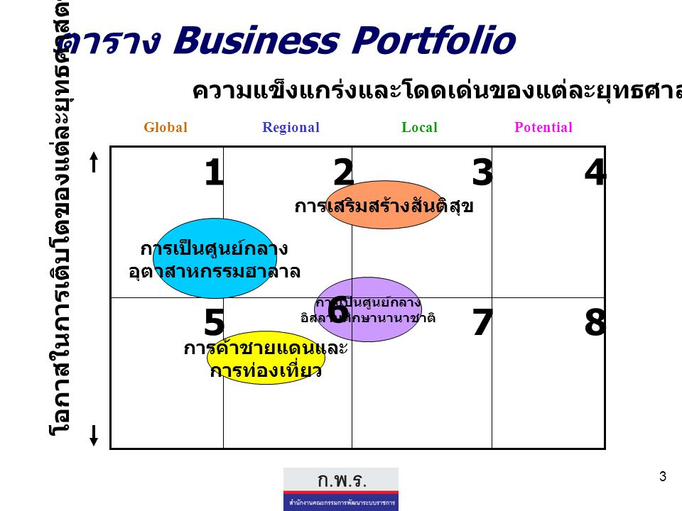 ตาราง Business Portfolio