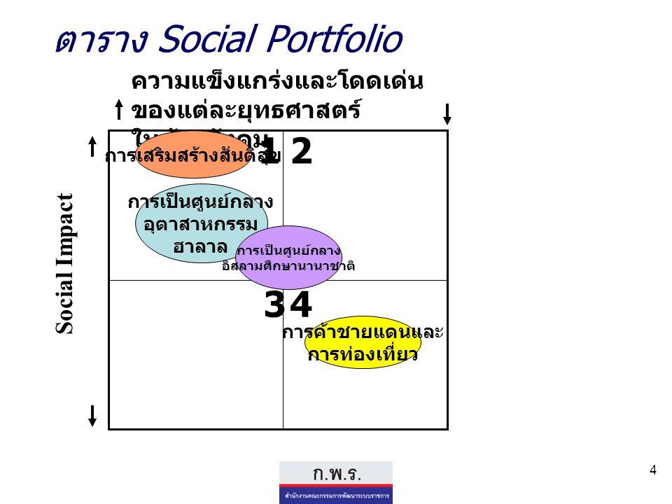ตาราง Social Portfolio