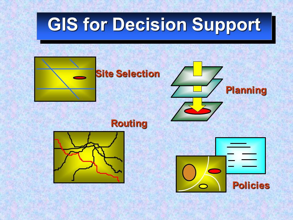 GIS for Decision Support