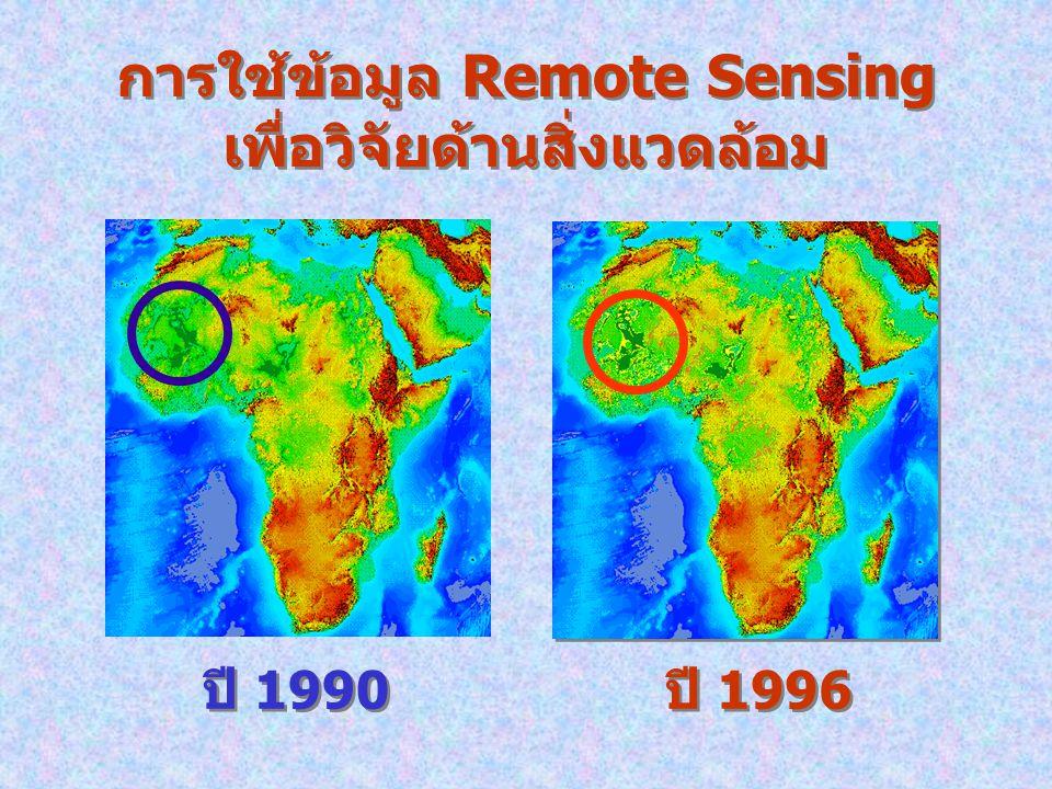 การใช้ข้อมูล Remote Sensing เพื่อวิจัยด้านสิ่งแวดล้อม