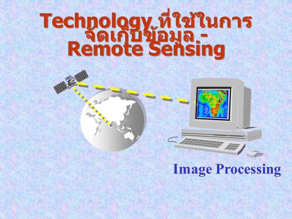 Technology ที่ใช้ในการจัดเก็บข้อมูล - Remote Sensing