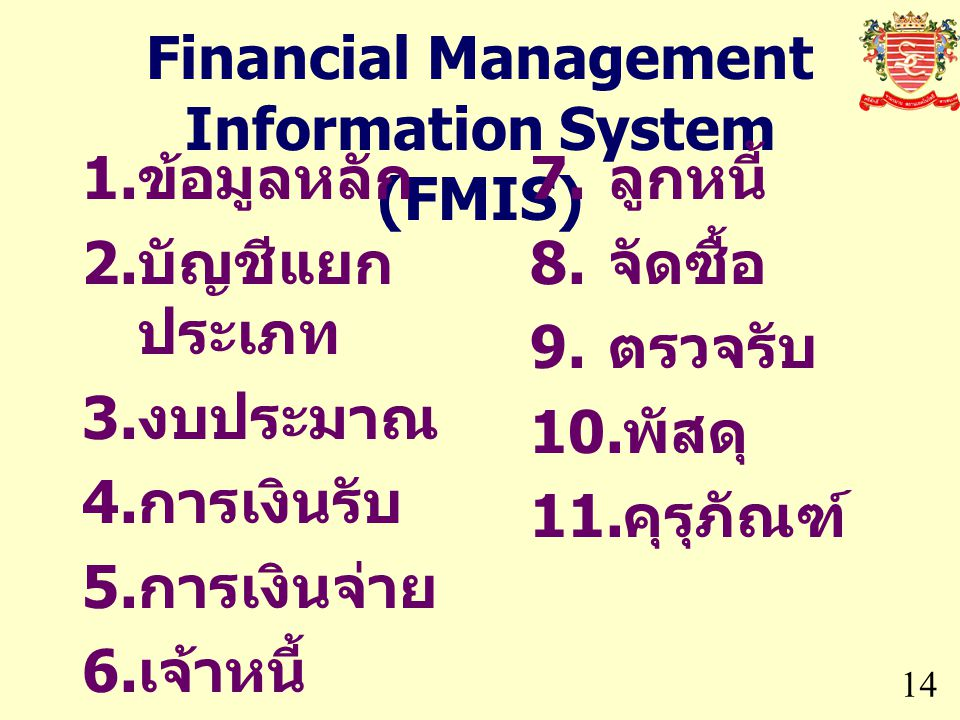 Financial Management Information System