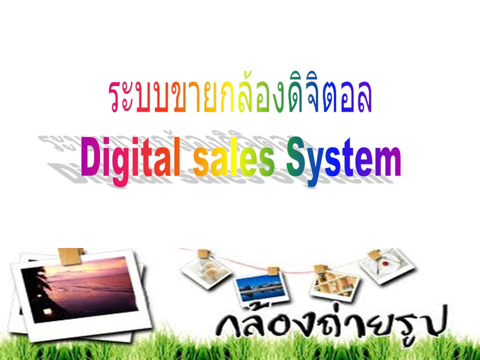 ระบบขายกล้องดิจิตอล Digital sales System