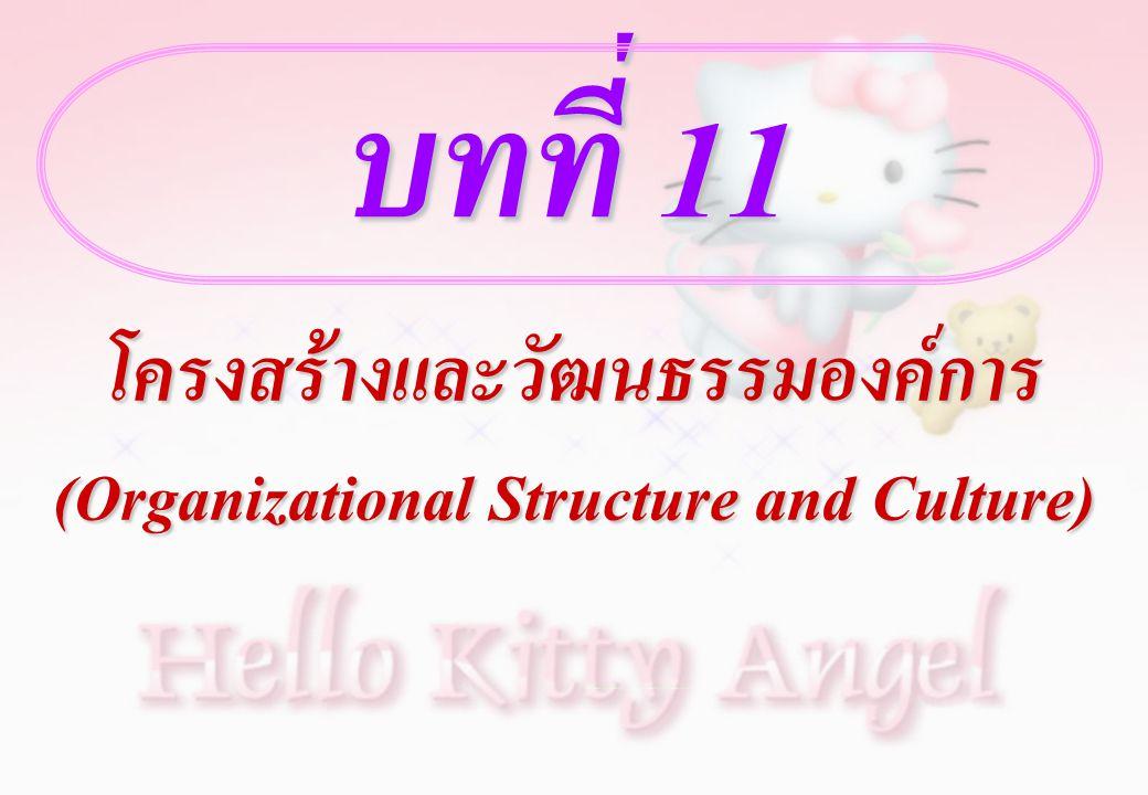 โครงสร้างและวัฒนธรรมองค์การ (Organizational Structure and Culture)