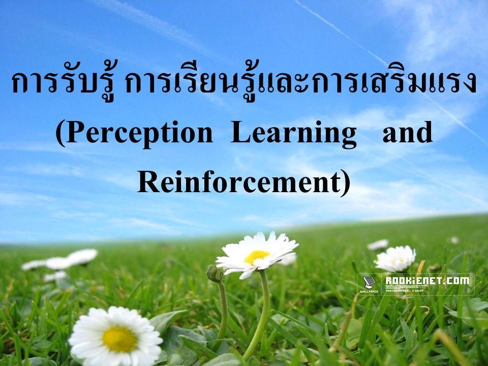 การรับรู้ การเรียนรู้และการเสริมแรง (Perception Learning and Reinforcement)
