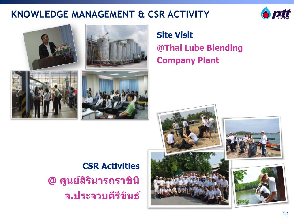 KNOWLEDGE MANAGEMENT & CSR ACTIVITY