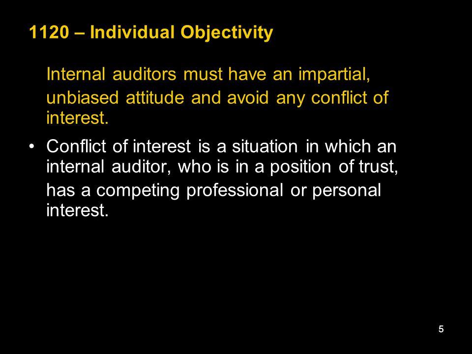 1120 – Individual Objectivity