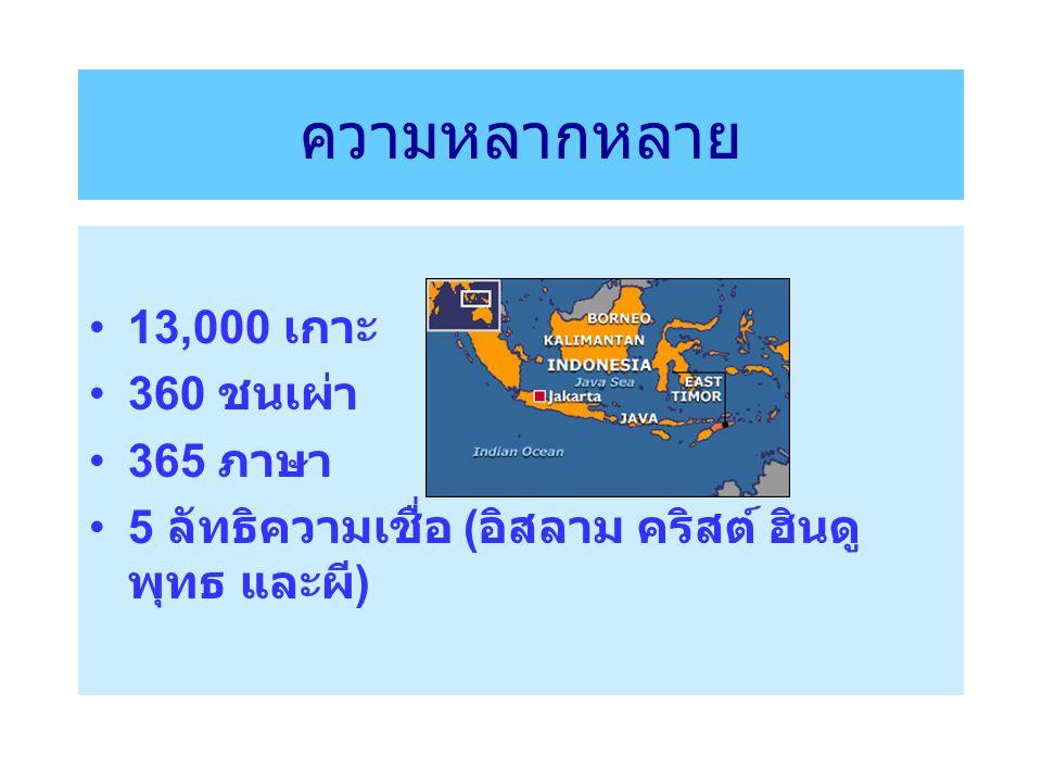ความหลากหลาย 13,000 เกาะ 360 ชนเผ่า 365 ภาษา