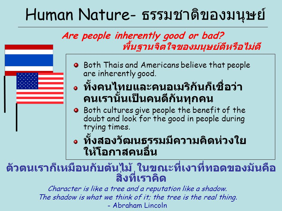 Human Nature- ธรรมชาติของมนุษย์