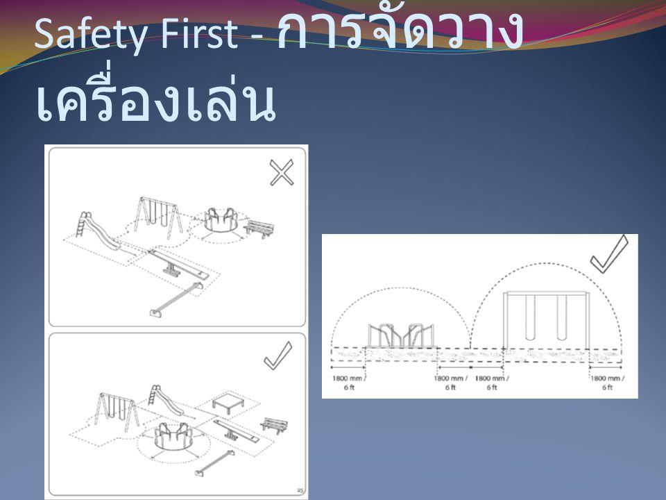 Safety First - การจัดวางเครื่องเล่น