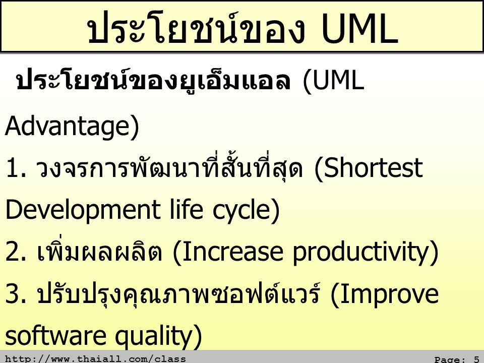 ประโยชน์ของ UML