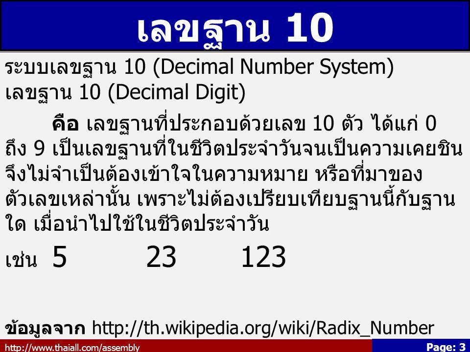 เลขฐาน 10 ระบบเลขฐาน 10 (Decimal Number System) เลขฐาน 10 (Decimal Digit)