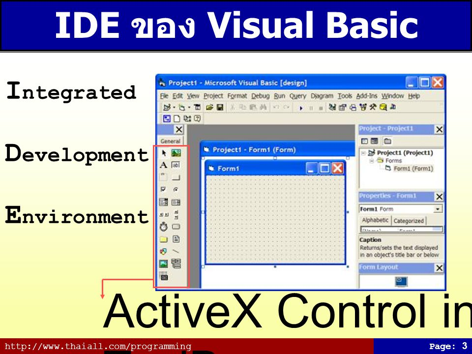 ActiveX Control in ToolBox