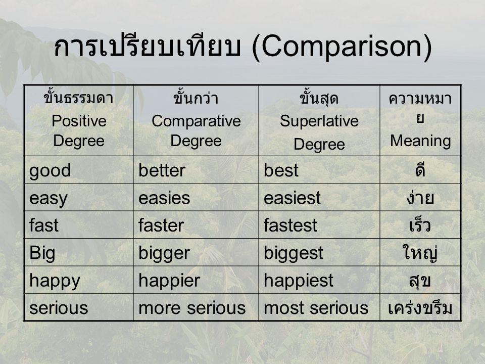 การเปรียบเทียบ (Comparison)