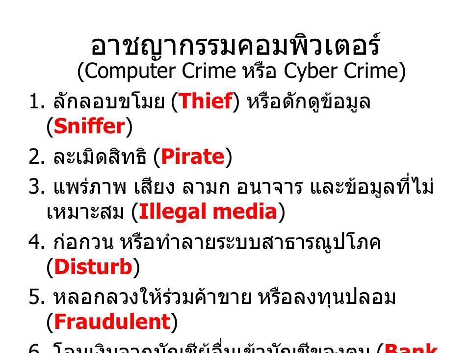 อาชญากรรมคอมพิวเตอร์
