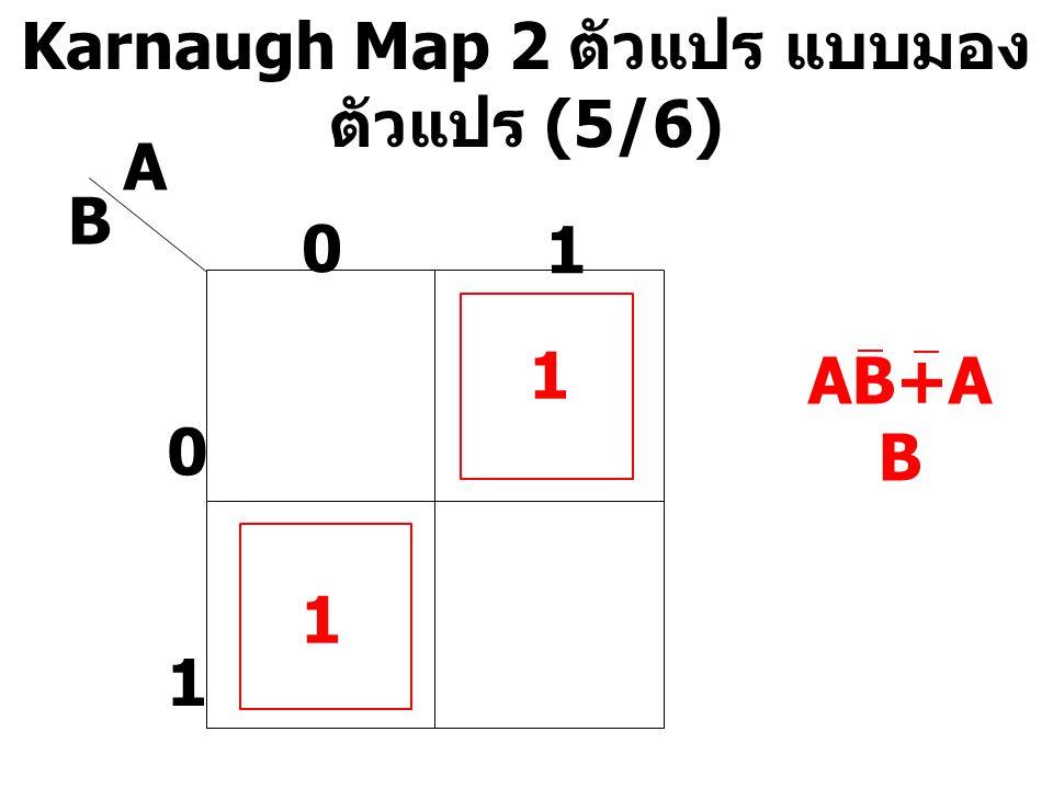 Karnaugh Map 2 ตัวแปร แบบมองตัวแปร (5/6)
