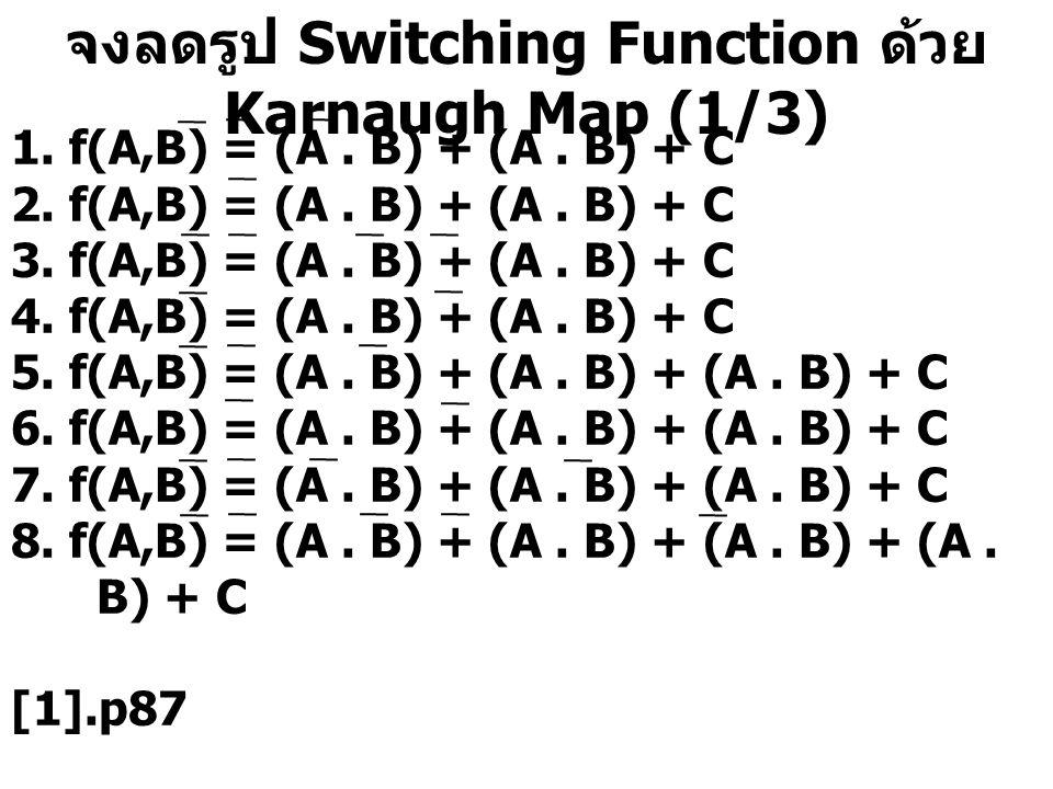 จงลดรูป Switching Function ด้วย Karnaugh Map (1/3)